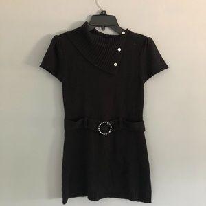 Black George Kids Belt Dress